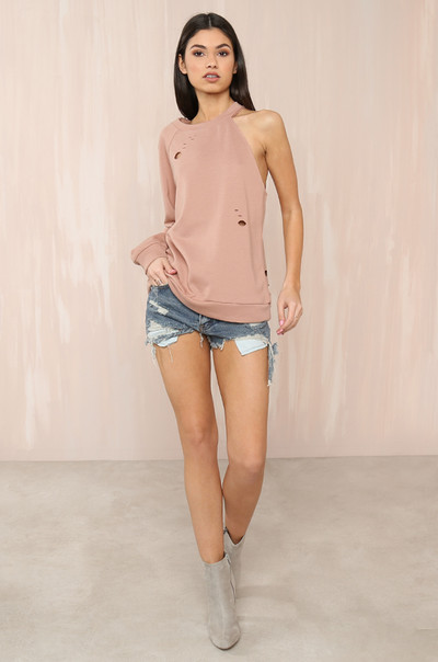 Off And On Sweater - Blush
