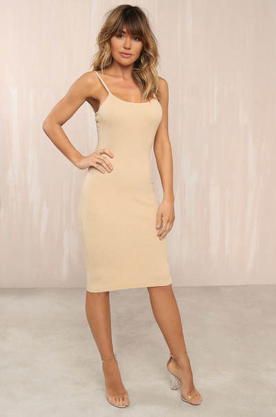 All About Me Dress - Nude