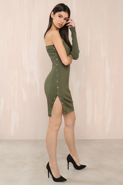 Oh Snap Dress - Olive
