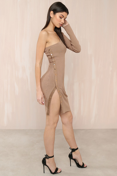 Oh Snap Dress - Nude