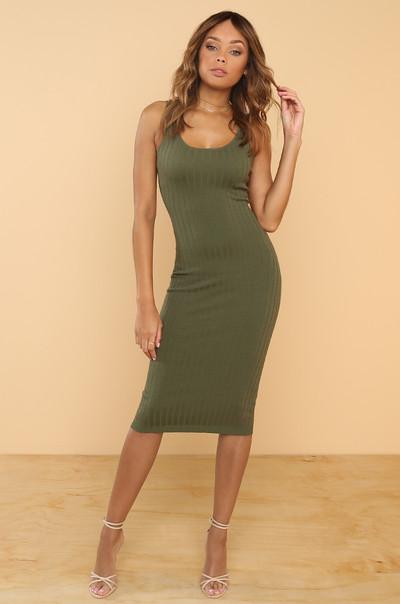 Keep Dreaming Dress - Olive