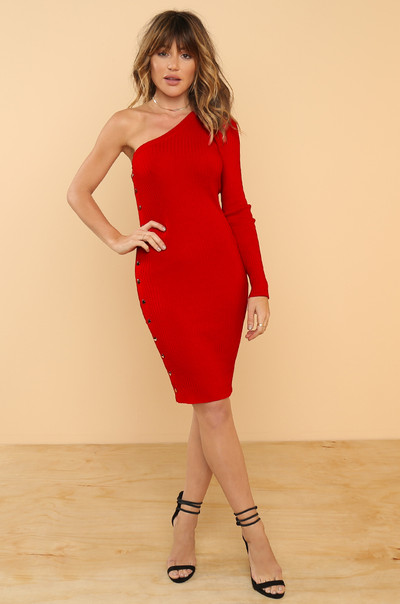 Oh Snap Dress - Red