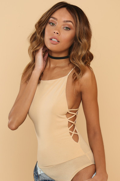 Crazy For You Bodysuit - Nude