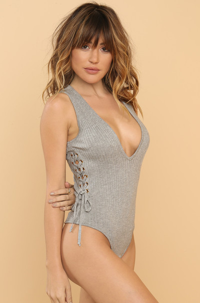 Curve You Bodysuit - Grey