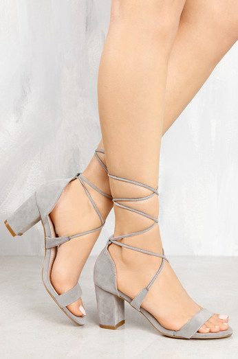 10843dd1111 Sophie Heeled Sandals In Nude Faux Suede