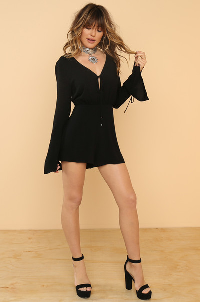 Deep Down Romper - Black