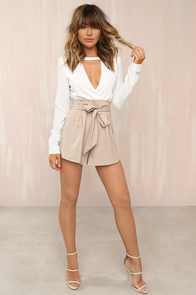 Cut-Throat Romper - White