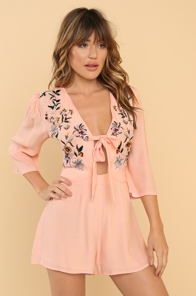 Sweet On You Romper - Blush