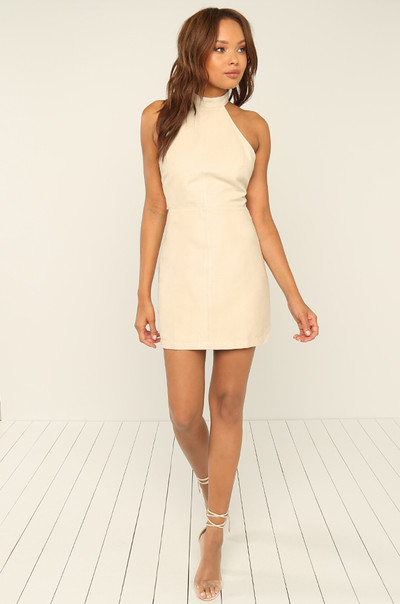 Per-Suede Me Dress - Off-White