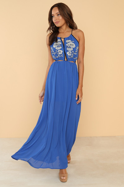 Pull It Together Dress - Blue