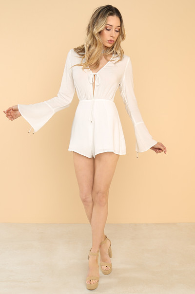 Deep Down Romper - White