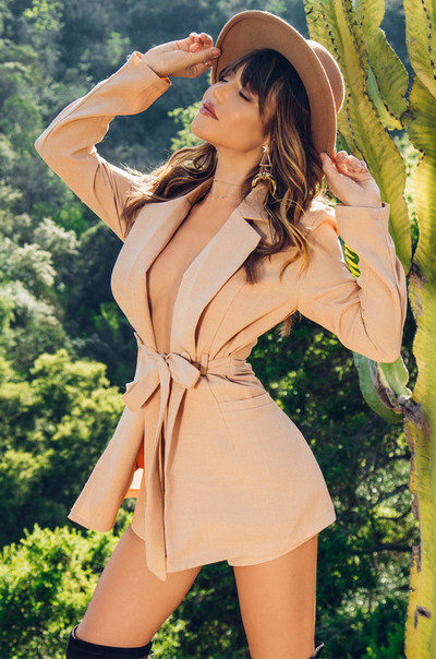 Upgrade You Romper - Nude