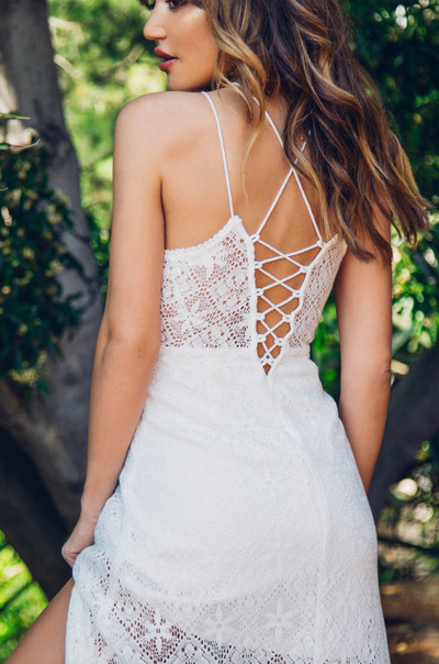 Hit The Floor Dress - White