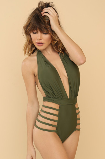 Line By Me Swimsuit - Olive