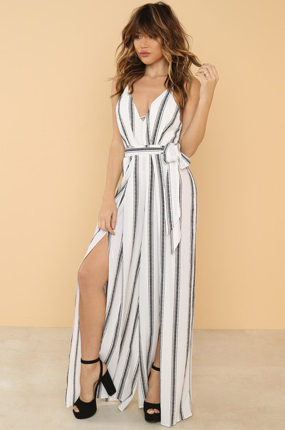 Walk The Line Jumpsuit - White