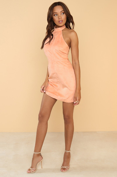 Per-Suede Me Dress - Blush