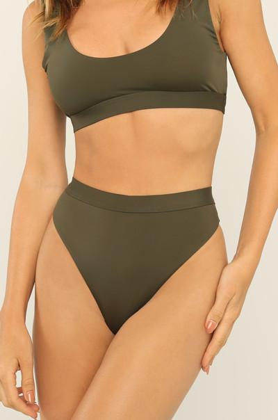 New Wave Bikini Bottom- Olive