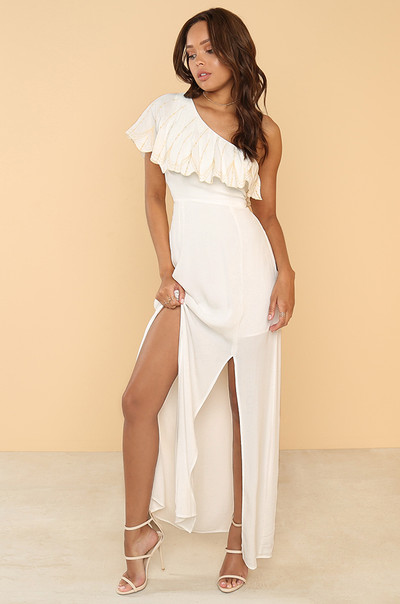 My Good Side Dress - Ivory