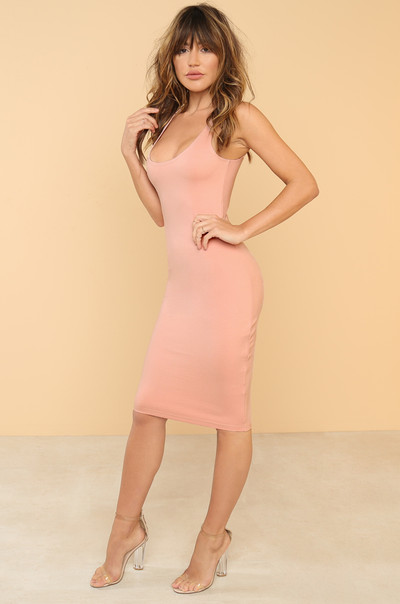 Skip The Line Dress - Blush