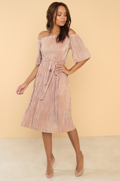 Pleats Me Dress - Blush
