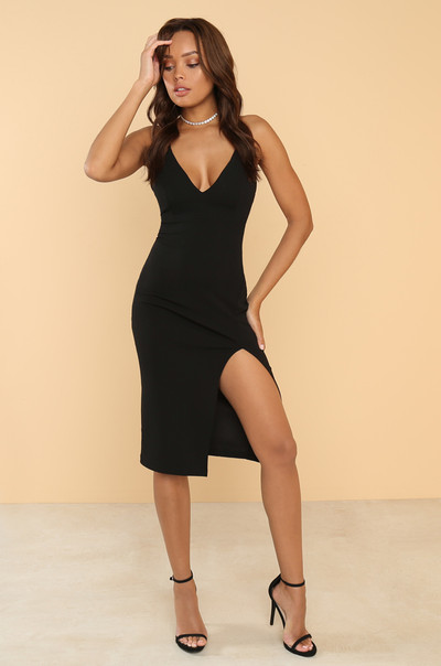 To The Nines Dress - Black