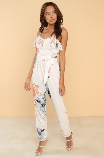Grow On Me Jumpsuit - White