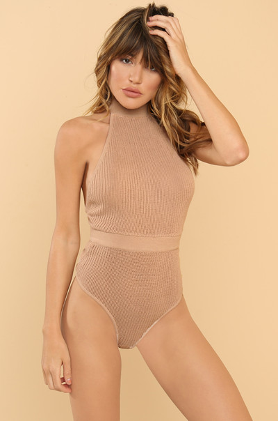 Caught In You Bodysuit - Nude