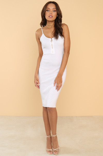 Ladies First Dress - White