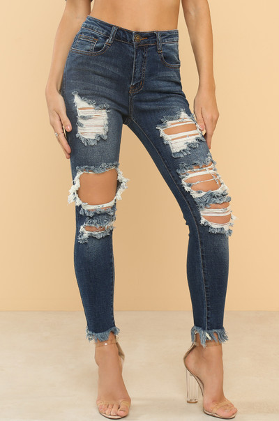 In Distress Jeans - Denim