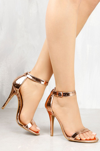 bd1c988ef6e Chic Rose Gold Heels Rose Gold And Lucite Heels Laceup Heels Legwrap ...