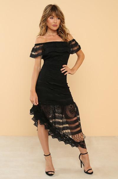 Get Noticed Dress - Black