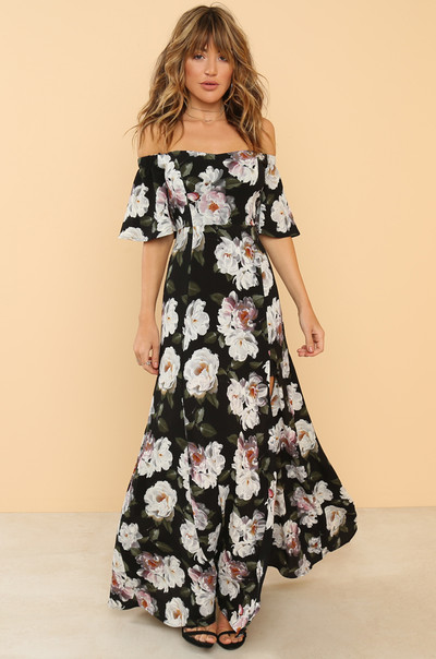 Flourishing Dress - Black