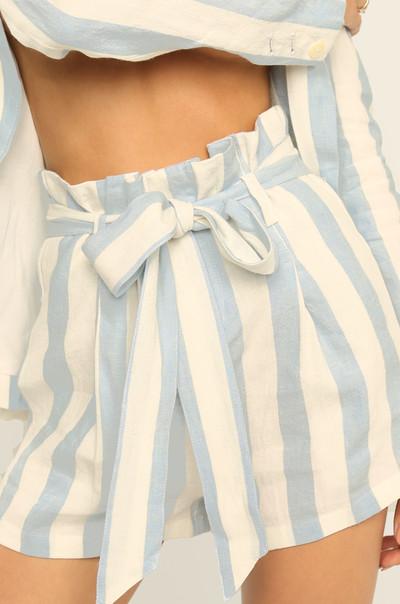 Stripe Tease Shorts - Blue