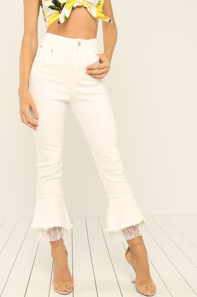 Flare Game Jeans - White