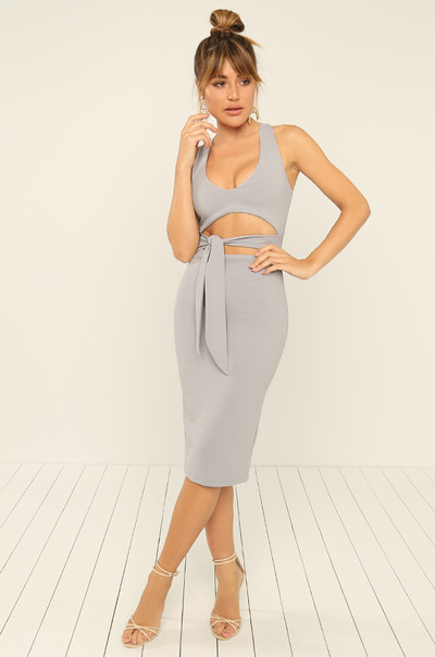 Made To Flaunt Dress - Grey