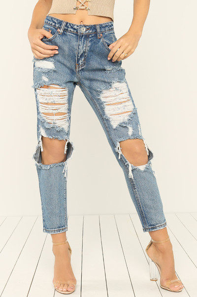 Blue Me Away Jeans - Denim