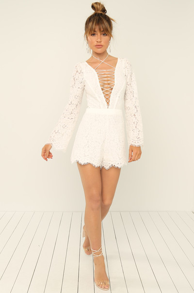 Sweet Temptation Romper - White