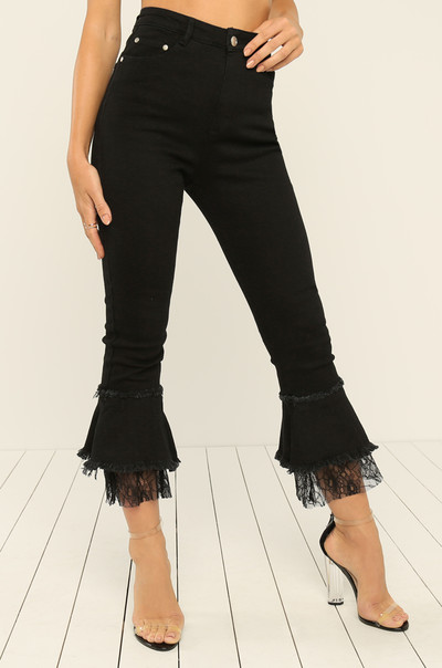Flare Game Jeans - Black