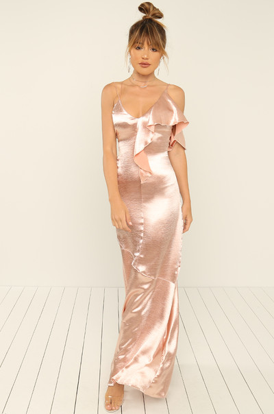 After Hours Dress - Blush Satin