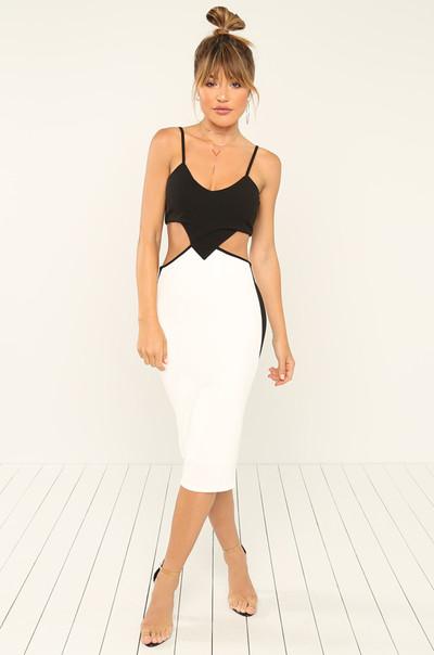No Chance Dress - White
