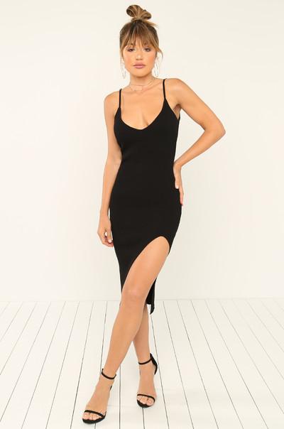 Back At It Dress - Black