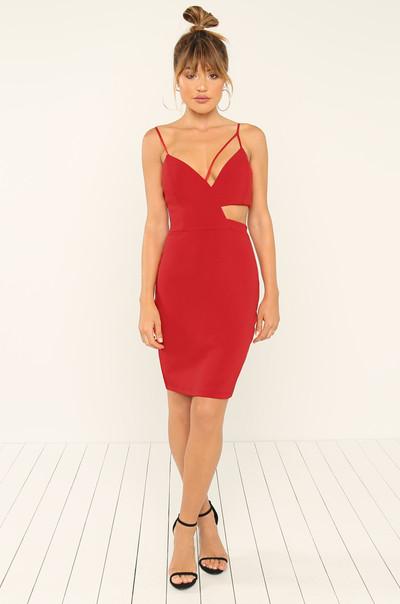 Unpredictable Dress - Red