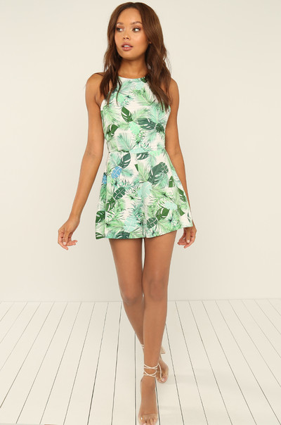 Palm Beach Romper - Green