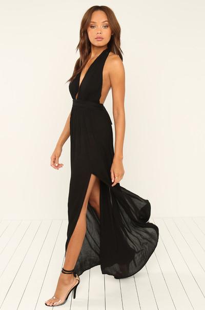 With A Twist Dress - Black