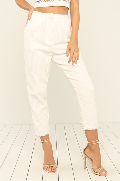 On Vacation Trousers - White