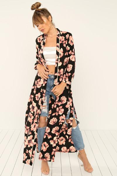 Grow On Me Kimono - Floral