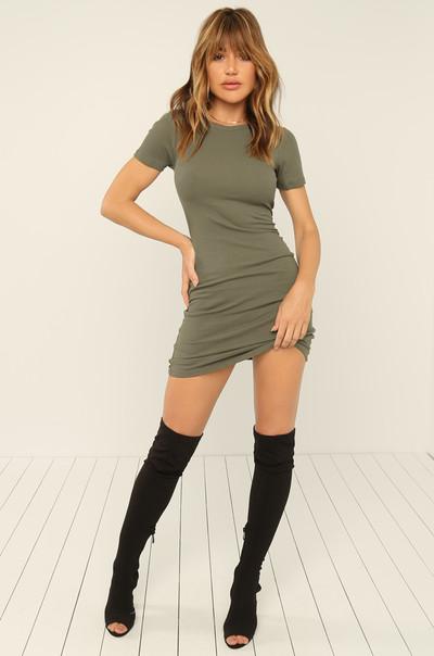 Basic Needs Dress - Olive