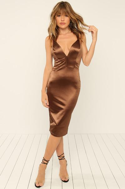 Nothing Like Me Dress - Bronze