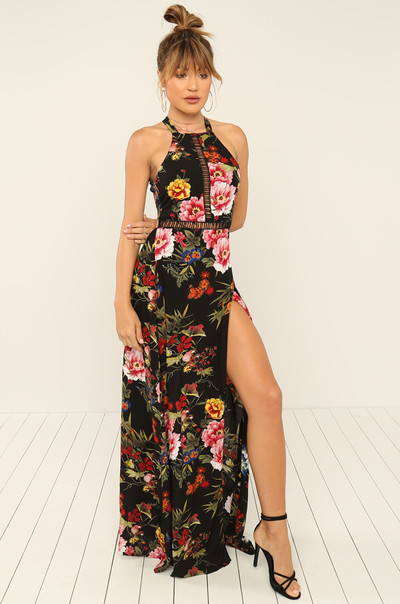 Smell The Roses Dress - Black