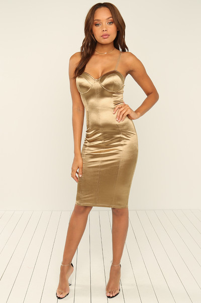 Public Affair Dress  - Gold